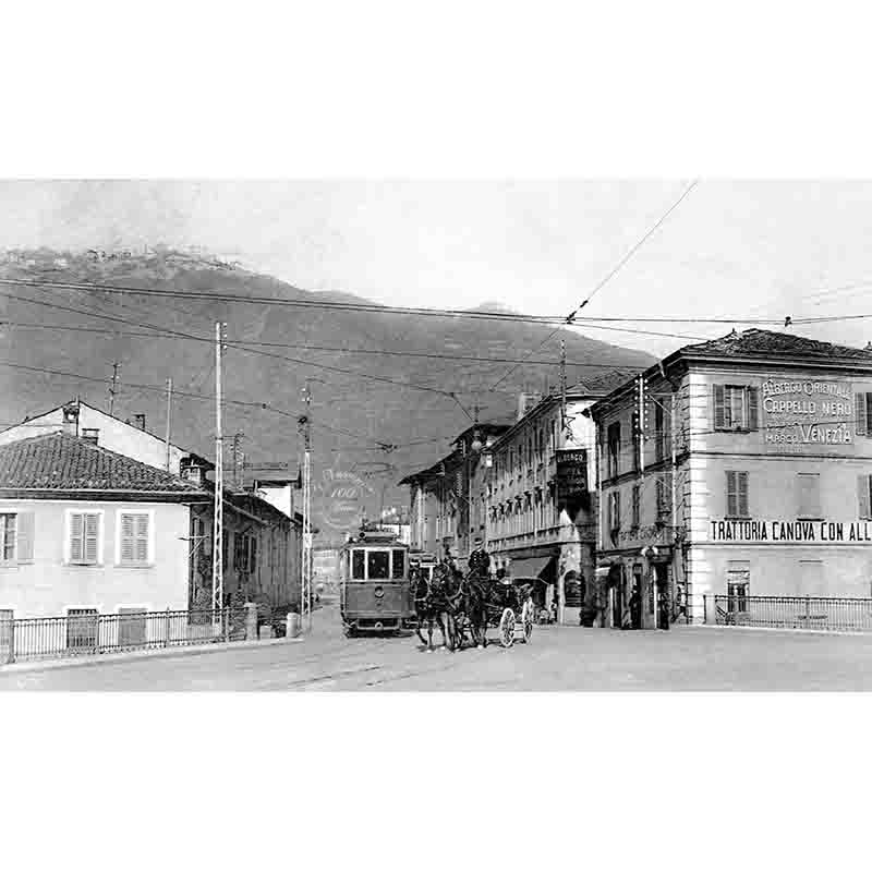Como via Tolomeo Gallio fotovasconi P 1910