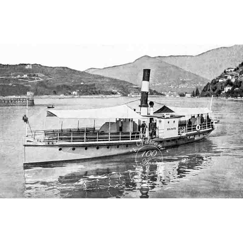 battello brunate lago di Como 1906 P